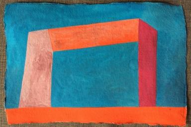 Dirty Razor Gallery, Gouache on Paper, 2014
