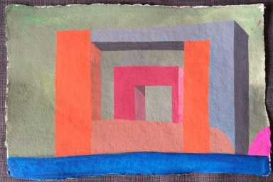 Pacific Claims Block, Gouache on Paper, 2014