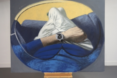 Self View with Watch, Oil on Canvas, 2012