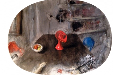 Still Life with Juicer, Gouache on Paper, 2013