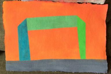 Ecstasy Grooming Park, Gouache on Paper, 2014