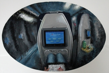Night Train, Oil on Canvas, 2013