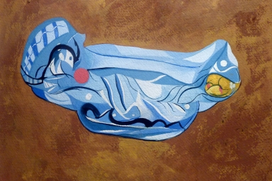 Inflatable Still Life, Gouache on Paper, 2012