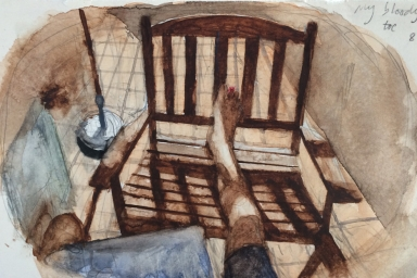 Still Life with Foot, Watercolour on Paper, 2015